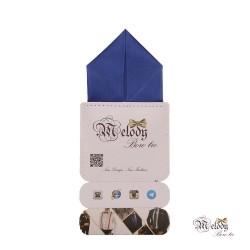 دستمال جیبی سری پیرامید (آبی مات)