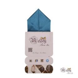دستمال جیبی سری پیرامید (آبی درباری براق)