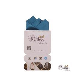 دستمال جیبی سری رنگین کمان (آبی درباری براق)
