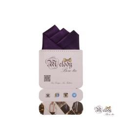 دستمال جیبی سری رنگین کمان (بنفش براق)