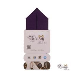دستمال جیبی سری پیرامید (بنفش براق)