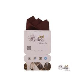 دستمال جیبی سری رنگین کمان (قهوه ای براق)