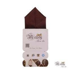دستمال جیبی سری پیرامید (قهوه ای براق)