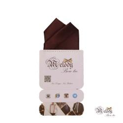 دستمال جیبی سری آنیدا (قهوه ای براق)