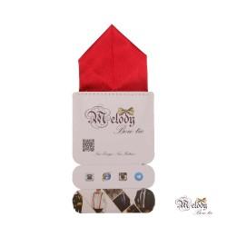 دستمال جیبی سری پیرامید (قرمز براق)