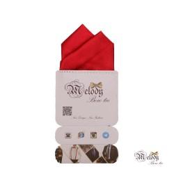 دستمال جیبی سری آنیدا (قرمز براق)