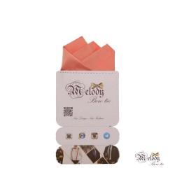 دستمال جیبی سری رنگین کمان (گل بهی روشن مات)