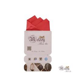 دستمال جیبی سری رنگین کمان (گل بهی سیر مات)
