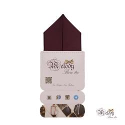 دستمال جیبی سری پیرامید (بنفش تیره مات)