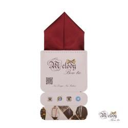دستمال جیبی سری پیرامید (زرشکی مات)