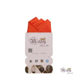 دستمال جیبی سری رنگین کمان (نارنجی مات)