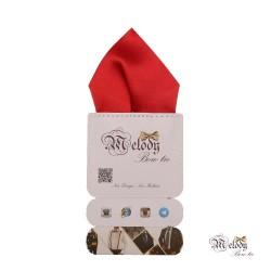دستمال جیبی سری تربلی (قرمز مات)