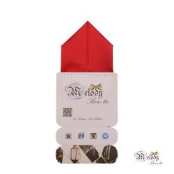 دستمال جیبی سری پیرامید (قرمز مات)