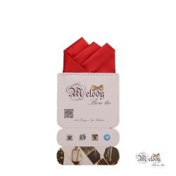 دستمال جیبی سری رنگین کمان (قرمز مات)