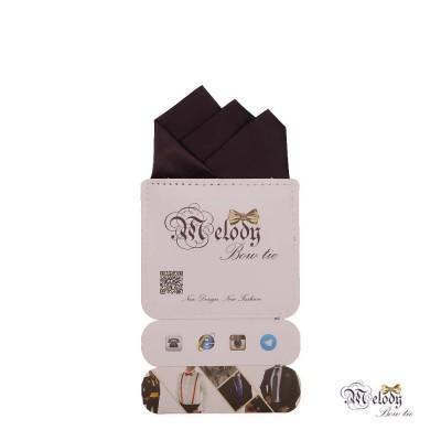 دستمال جیبی سری رنگین کمان (بادمجانی مات)
