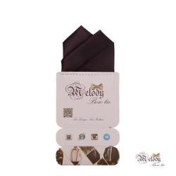دستمال جیبی سری آنیدا (بادمجانی مات)