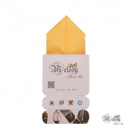 دستمال جیبی سری پیرامید (زرد مات)
