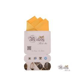 دستمال جیبی سری رنگین کمان (زرد مات)