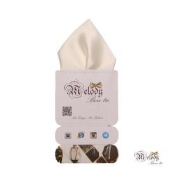 دستمال جیبی سری تربلی (سفید براق)