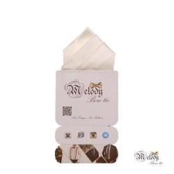 دستمال جیبی سری مونتانا (سفید براق)