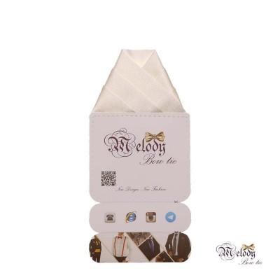 دستمال جیبی سری ولکانو (سفید براق)