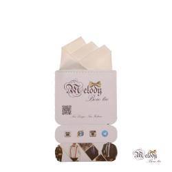 دستمال جیبی سری رنگین کمان (سفید مات)