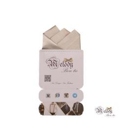 دستمال جیبی سری رنگین کمان (شیری براق)
