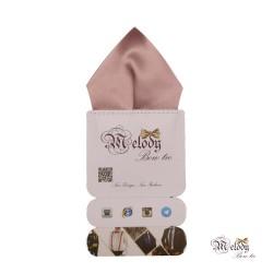 دستمال جیبی سری تربلی (صورتی چرک مات)