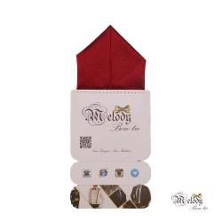 دستمال جیبی سری پیرامید (عنابی براق)
