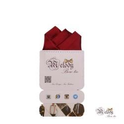 دستمال جیبی سری رنگین کمان (عنابی براق)