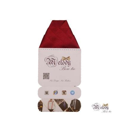 دستمال جیبی سری ولکانو (عنابی براق)