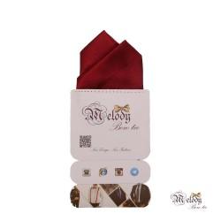 دستمال جیبی سری آنیدا (عنابی براق)