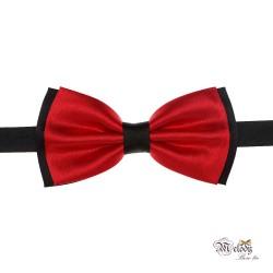 پاپیون سری مندو - مردانه (قرمز براق و سیاه)