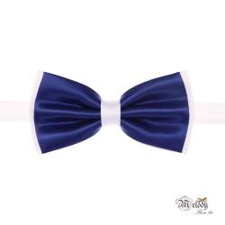 پاپیون سری مندو - مردانه (آبی مات و سفید)