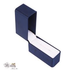 جعبه دکمه سردست پارچه ای (آبی)