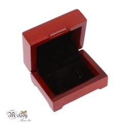 جعبه دکمه سردست چوبی (قهوه ای روشن)